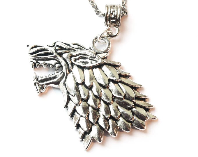 70 cm necklace with a wolf pendant, Game of Thrones style