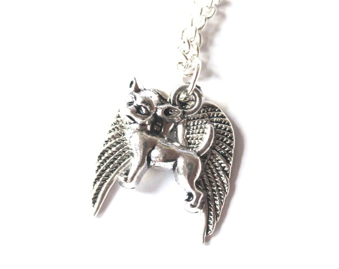 Memorial necklace with a angel chihuahua