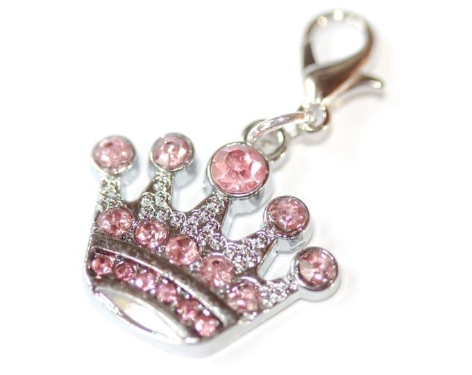 Charm/pendant with a 4 cm rhinestone silver key