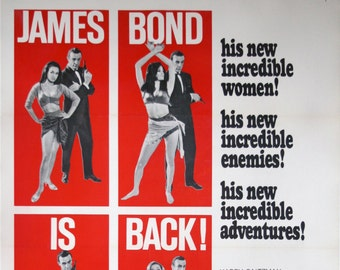 JAMES BOND: An original American 'From Russia With Love' movie poster, 1964