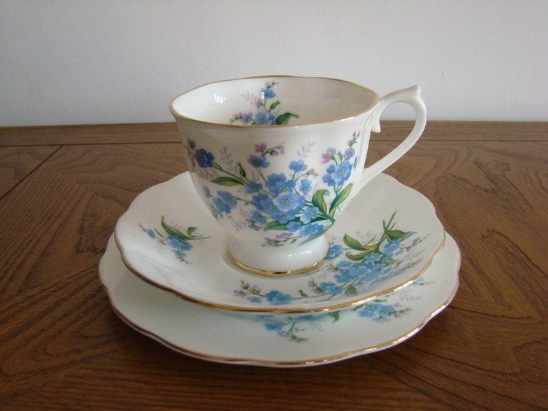 b0b5f2bdcbe Royal Albert Forget Me Not bone china trio tea cup saucer