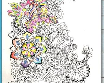 Printable Mandala Design Coloring Page