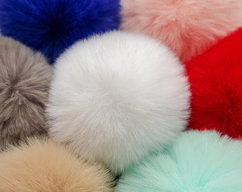 27d4f45b0e8 7 colours - 8cm Faux Fur Pom Pom