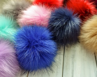 74570abfb66 18 Colours - Large 12cm Faux Fur Pom Pom