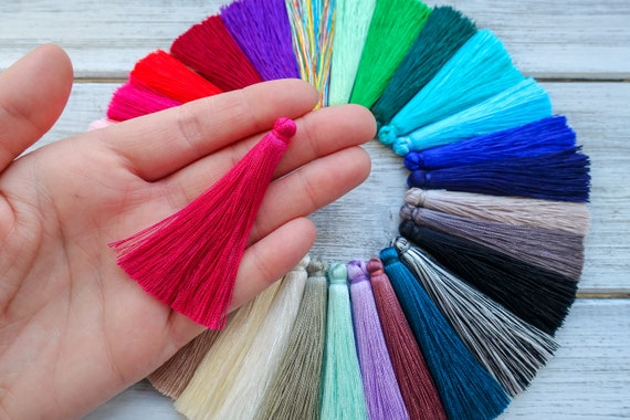 Wedding Favours etc. 10 SILKY TASSELS For Crafts 5cms Card Making PURPLE