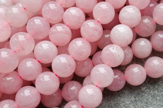Rose Quartz Faceted Round Beads 8mm Pink 45 Pcs Gemstones DIY Jewellery Making