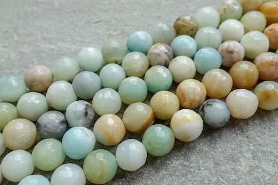 Amazonite Round Beads 8mm Turquoise 44 Pcs Gemstones Jewellery Making Crafts