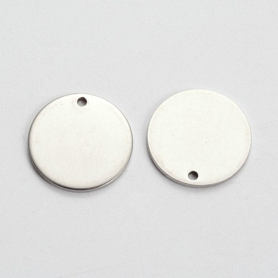 Unfading Stainless Steel Blank Stamping Tag Pendants Engraving Charms Making