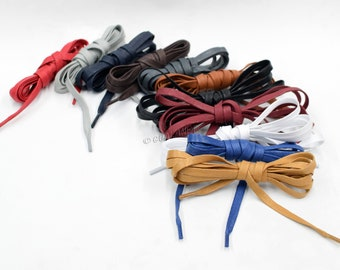 Round Shoelaces Waxed Solid Color Strings Shoe Laces Cord Cotton Wax Sport Soft