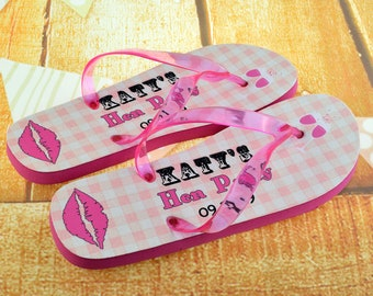 3884e364d389 Personalised Hen Party Flip Flops