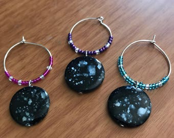 Beaded wine charms (set of 3)