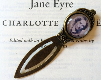 Charlotte Bronte Bookmark - Gift For Reader, Book Lover, Bibliophile, Antique Style Book Gift, Vintage Author Bookmark, Library Book Gift