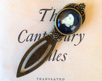Chaucer Bookmark - Geoffrey Chaucer Bookmark, The Canterbury Tales Bookmark, Medieval Bookmark, Chaucer Gift, The Canterbury Tales Gift