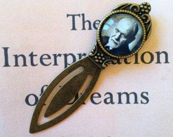 Freud Bookmark - Sigmund Freud Gift, Psychiatry Bookmark, Gift for Analyst, The Interpretation of Dreams, Vintage Sigmund Freud Bookmark