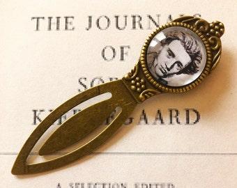 Kierkegaard Bookmark - Søren Kierkegaard Gift, Philosopher Bookmark, Existentialist Gift, Gift for Philosopher, Existentialism Bookmark