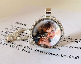 Personalized pendant etsy personalised pendant necklace custom photo jewellery personalized photo pendant personalised picture necklace your own photo jewelry aloadofball Gallery
