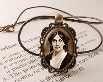 Louisa May Alcott Pendant Necklace - Little Women Jewelry, Literary Necklace, Jo's Boys Pendant, Louisa May Alcott Jewellery, Literary Gift