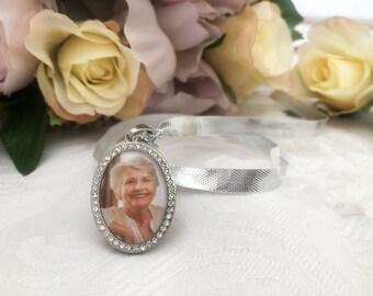 Custom Photo Wedding Bouquet Charm - Memorial Charm, Bouquet Photo Charm, Bridal Keepsake, Gift for Bride, Personalised Jewellery