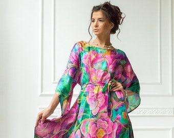 4c08570e1f15 Golden Glow – Natural silk dress