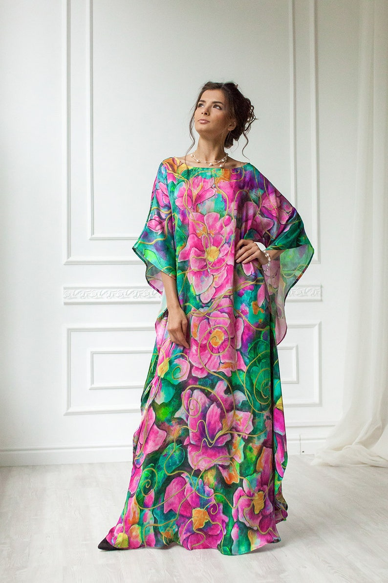 c7e88f1e7ade Golden Glow Natural silk dress Loose maxi dress Mother of