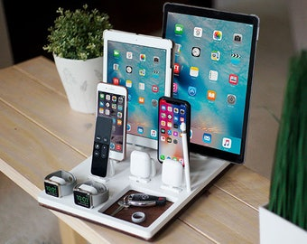 NytStnd COUPLES X White - FREE SHIPPING Charging Station Wireless iPhone X 8 Apple Watch AirPods Birthday Gift Father's Day