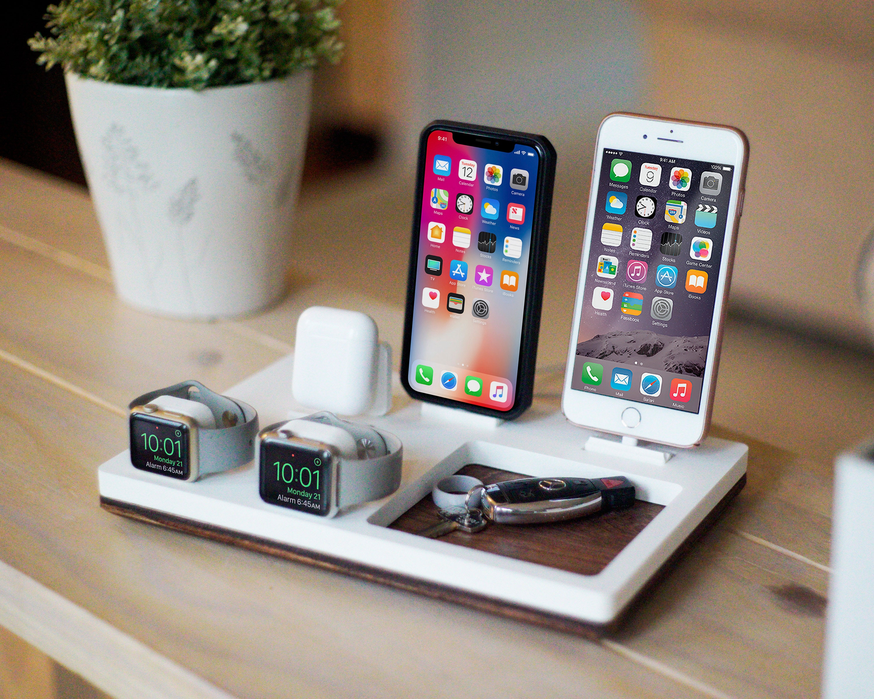 wholesale dealer 46c7e c1ab2 COUPLES V White | Multiple Device Charging Dock | Wireless Charger | iPhone  X XS iPad Apple Watch AirPods Apple Pencil | Best Wedding Gift