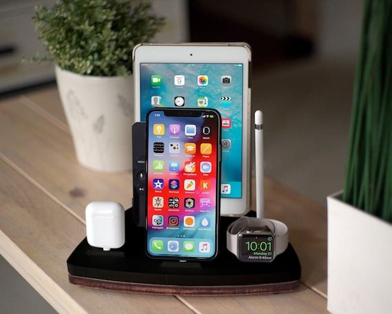 wholesale dealer 12494 903e9 FIVE Black - FREE SHIPPING Charging Station Wireless iPhone X 8 iPad Apple  Watch Apple Tv Airpod Birthday Gift