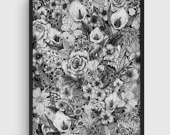 Botanical Illustration / Victorian Flower Print