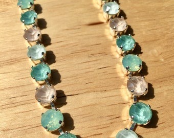 Beachy Summer Crystal Necklace