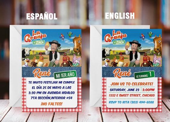 La Granja De Zenón Invitación Imprimible La Granja De Zenón Invitación La Granja De Zenón Imprimible Archivo Digital