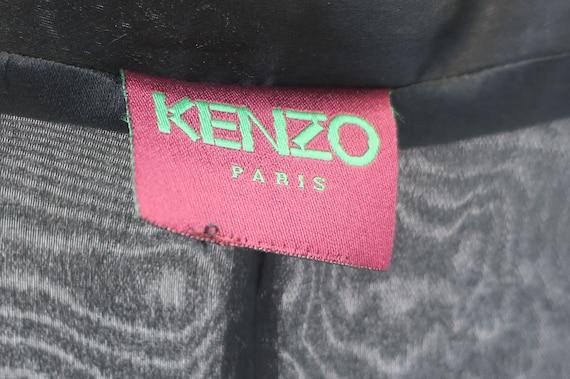 Kenzo Vintage Black Organza Coat