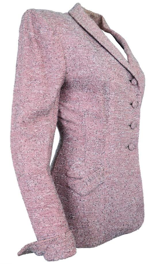 1940's Vintage Pink Flecked Blazer