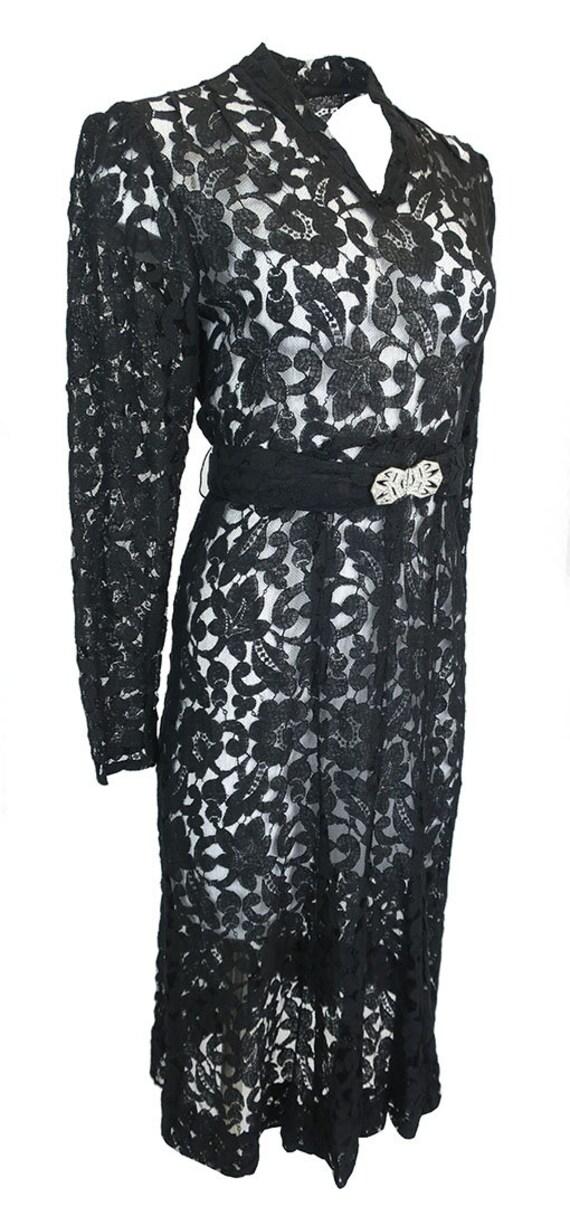 Vintage 1930's Lace gown