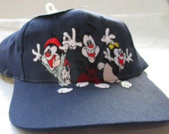 b273aa17d24 Animaniacs vintage 1994 snapback navy blue colorfull embroided new with  tags by head start sportswear copyright warner brothers