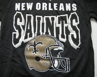 4e89e7461 New Orleans Saints vintage nfl football printed t shirt by Garan made in  the USA