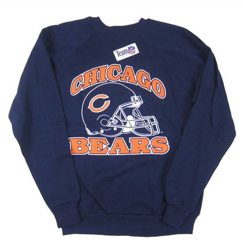 2ab7d5b8 Chicago Bears NFL vintage Navy crewneck football sweater by | Etsy