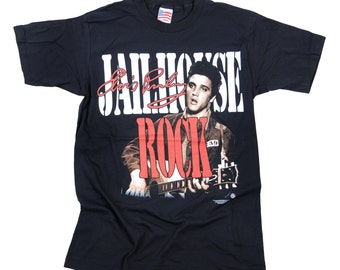 Elvis Presley vintage t shirt Jailhouse rock by Trinity 1996 made in the USA 1996  NEW!  rock n roll