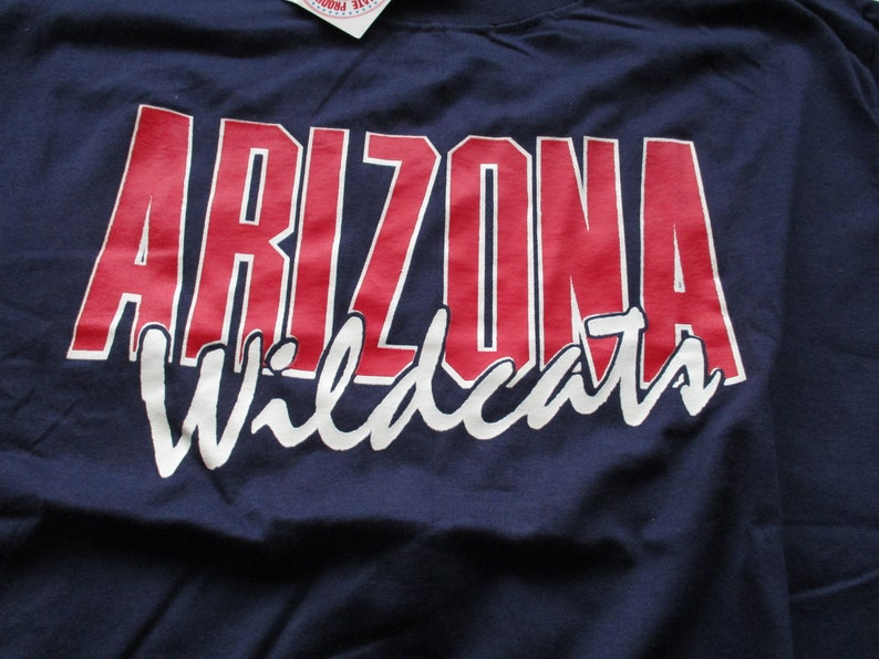 e6ed04222 Vintage Arizona Wildcats ncaa basketball Bike brand navy blue t shirt  wildcats new with tags