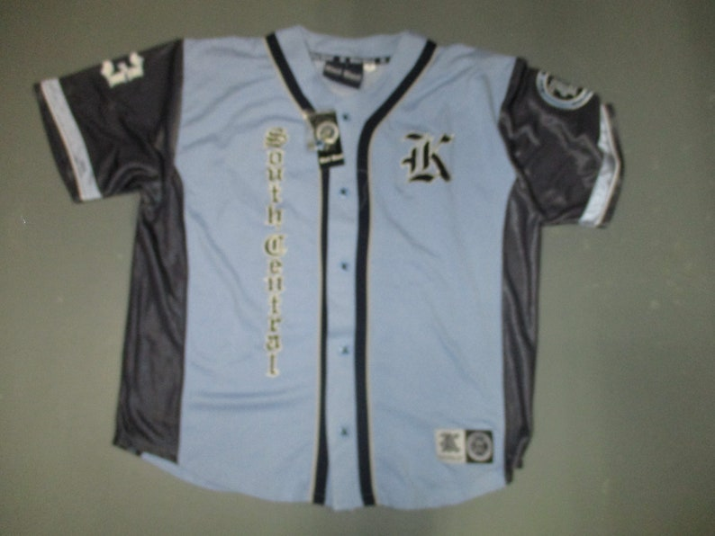 d3036aafd Karl Kani baseball jersey 90 s model km 4154 navy blue