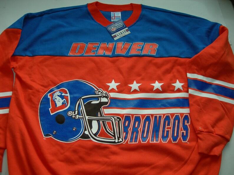 Denver Broncos vintage  NFL  football sweatshirt by Garan made image 0