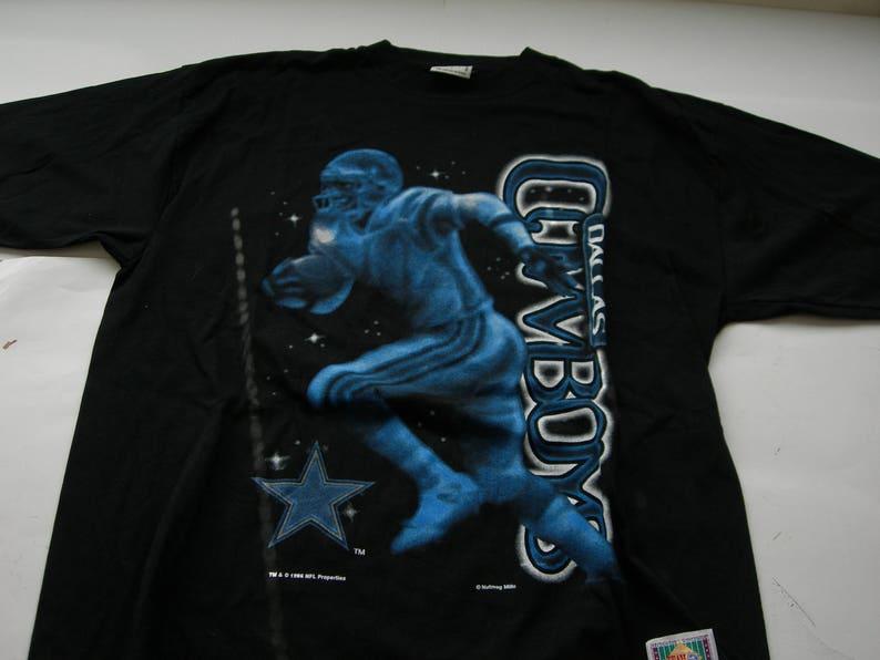890dec2c7058b Dalllas Cowboys football NFL vintage nutmeg black cotton t | Etsy