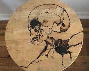 Custom Stool Art - Scary Stories to Tell in the Dark