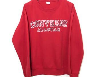 Vintage Converse Sweatshirt Jumper Big Logo Spell Out