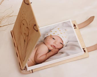 wooden photo albums etsy
