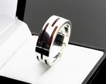 Unisex Ring, Male Ring, Men Silver Ring, Men Amber Ring, Sterling Silver Men Rings, Silver Ring For Men, Band Amber Ring, Multistone Ring