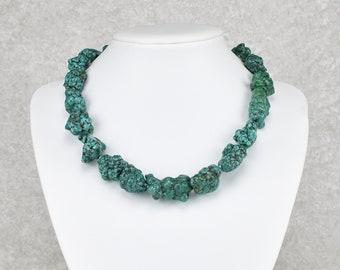 Unique: Fancy turquoise nugget chain