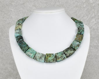Beautiful Rustic Turquoise Collar Necklace