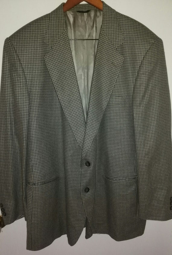 Mens Vintage 80's Pierre Cardin Boxy Houndstooth/