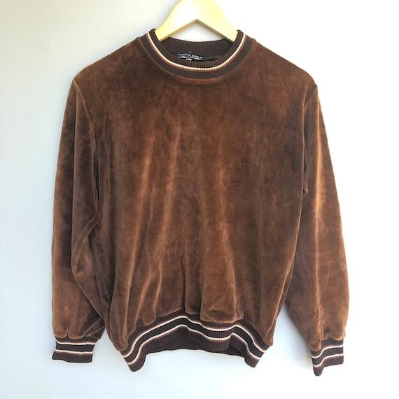 1970s PLAYBOY Brand 70s Vintage Brown Velour Velve