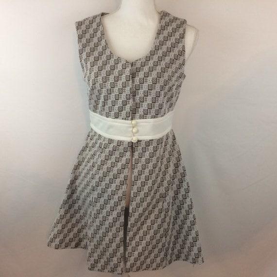 Vintage Long Tunic Sleeveless Dress Jacket Top, 10